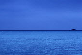 Abstract of blue sea and sky at night, Pembrokeshire. South Wales. - Paul Box - 14-07-2002