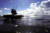 Kite surfer Weston Super Mare beach - Paul Box - 14-07-2002