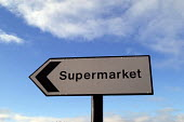 A supermarket sign outside Morrisons supermarket , Cribbs Causeway, Bristol - Paul Box - 09-01-2004