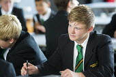 School pupils studying at Clevedon school, Clevedon. - Paul Box - 16-09-2013