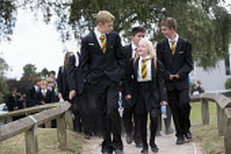 Pupils walking to class, Clevedon school, Clevedon. - Paul Box - 10-09-2013