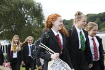 Pupils walking to class, Clevedon school, Clevedon. - Paul Box - 23-09-2013