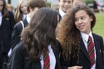 Pupils walking to class, Clevedon school, Clevedon. - Paul Box - 12-09-2013