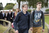 Sixth form students walking to class, Clevedon school, Clevedon. - Paul Box - 12-09-2013