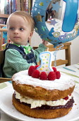 A baby boy celebrating his first birthday, Bristol. - Paul Box - 24-09-2013