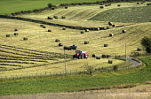 Grass is cut and baled near Bala, North Wales. - Paul Box - 13-08-2013