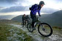 Mountain Biking near Helvelin, Lake District. - Paul Box - 20-11-2005