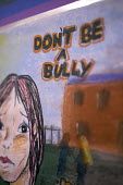 Posters painted or drawn by local school children, for the ipoweri National Anti-Bullying Conference held in Bristol. - Paul Box - 2000s,2006,A,abusive,aggressive,Alliance,annual,anti social behavior,anti social behaviour,anti socialanti social behavior,anti-bullying,antisocial,antisocial behaviour,bad,be,behavior,behaviour,bulli