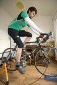 A man training in preparation, for cycling. - Paul Box - 07-03-2006