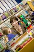 A librarian working in the children's department, at a library. - Paul Box - 07-03-2006