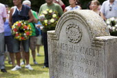 Wreath Laying, Tolpuddle Martyrs Festival 2014 - Paul Box - 2010s,2014,cemeteries,cemetery,festival,FESTIVALS,floral,flower,flowering,flowers,grave,graves,gravestone,gravestones,graveyard,Graveyards,Hammett,headstone,James,Laying,member,member members,members,