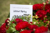 Wreath Laying, Tolpuddle Martyrs Festival 2014 - Paul Box - 2010s,2014,cemeteries,cemetery,festival,FESTIVALS,floral,flower,flowering,flowers,grave,graves,graveyard,Graveyards,Hammett,headstone,James,Labour Party,Laying,member,member members,members,PEOPLE,pol