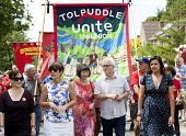 Kerry McCarthy MP, Dawn Primarolo MP, Frances O'Grady Gen Sec TUC, unknown, Emily Benn (granddaughter of Tony) Tolpuddle Martyrs Festival 2014 - Paul Box - 2010s,2014,banner banners,Dawn,festival,FESTIVALS,member,member members,members,PEOPLE,SWTUC,Trade Union,Trade Union,Trade Unions,Trades Union,Trades Union,Trades unions,TUC,woman women