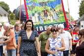 Emily Benn, Tony's grand-daughter Dawn Primarolo MP Labour Party, Tolpuddle Martyrs Festival 2014 - Paul Box - 20-07-2014