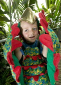 Children playing fancy dress in the Wildwalk-At-Bristol. - Paul Box - @bristol,2000s,2006,a,ACE,artificial,bird,birds,botanical,boy,boys,centre,centres,child,CHILDHOOD,children,cities,city,costume,costumes,culture,dress,dressing up,ecology,ecology-related,edu education,