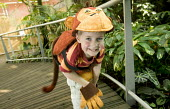 Children playing fancy dress in the Wildwalk-At-Bristol. - Paul Box - 07-09-2006