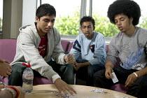 Pupils enjoying a breaktime at City Academy, Bristol. - Paul Box - 13-07-2006