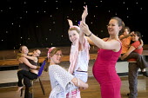 A pregnant teacher, teaching a Drama class, at Clevedon Community School. - Paul Box - 08-07-2006