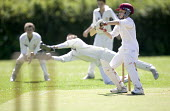 A cricket match, at Clevedon Community School. - Paul Box - 08-07-2006