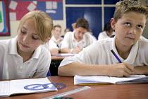 A Math class, at Clevedon Community School. - Paul Box - 08-07-2006