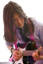 A music lesson at City Academy, Bristol. - Paul Box - 28-06-2006