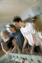 Pupils enjoying breaktime, at Clevedon Community School. - Paul Box - 2000s,2006,adolescence,adolescent,adolescents,boy,boys,break,break time,breaks,breaktime,breaktimes,child,CHILDHOOD,children,Clevedon,Co-Educational,communities,Community,Comprehensive School,edu educ