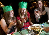 Student Union having their Christmas meal, at Jongleurs Comedy Club. - Paul Box - 01-10-2006