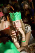 Student Union having their Christmas meal, at Jongleurs Comedy Club. - Paul Box - 2000s,2006,a,ADDICTION,ADDICTIVE,alcohol,alcoholic,ALCOHOLICS,ALCOHOLISM,beverage,beverages,catering,christmas,cities,city,club,clubs,Comedy,crowd,crowded,crowds,drink,drinking,drinks,edu education,EM