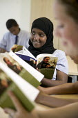 Pupils in a English lesson, reading William Shakespeare's Twelfth Night, at The City Academy Bristol. - Paul Box - 13-07-2006
