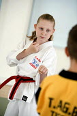 Pupil performing Judo,Tae Kwon Do Association of Great Britain (TAGB) at The City Academy Bristol. - Paul Box - 13-07-2006