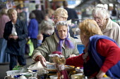 A bric-�-brac sale for the charity, Joseph Rowntree Foundation. - Paul Box - 19-01-2005