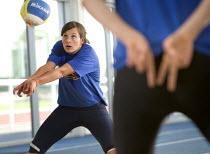 The UK's Women beach volley ball team, training for the Olympics at Bath University. - Paul Box - 25-05-2005