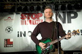 Billy Bragg, a musician and singer performing at the Carling Academy Birmingham. Bragg is best known for his political protest songs. - Paul Box - ,2000s,2006,academies,Academy,ace culture entertainment,activist,activists,amicus,Anti Fascist,Anti Racism,banner,banners,bigotry,Birmingham,BNP,British National Party,CAMPAIGN,campaigner,campaigners,