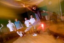 Pupils dancing, breakdancing lesson, John Cabot CTC, Bristol - Paul Box - 2000s,2006,academies,Academy,ace culture entertainment,b-boying,b-girling,boy,boys,breakdance,breakdancer,breakdancers,breakdancing,breaker,breakers,breaking,Cabot,cap,caps,child,CHILDHOOD,children,ci
