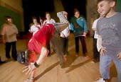 A breakdancing lesson at John Cabot Academy, an independent school in Bristol. - Paul Box - 11-12-2006