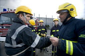 Firefighters training young offenders at HM Prison and Young Offenders Institute (HMYOI Ashfield), Bristol. - Paul Box - 29-03-2007