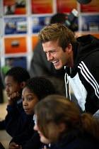 Celebrity football player David Beckham, visits the City Academy Bristol. - Paul Box - 2000s,2007,Academies,academy,adolescence,adolescent,adolescents,Angeles,Beckham,Becks,boy,boys,Bristol,celeb,celebrities,celebrity,celebs,child,CHILDHOOD,children,cities,City,class,classroom,classroom