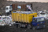 Packington Landfill Site, one of Europes largest landfills. - Paul Box - 2000s,2007,cities,city,collection,compacted,compacting,compaction,compactor,compactors,container,containers,council services,council services,debris,discard,discarding,disposal,dispose,disposing,drop,