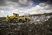Packington Landfill Site, one of Europes largest landfills. - Paul Box - 2000s,2007,Bomag,cities,city,compacted,compacting,compaction,Compactor,Compactors,council services,council services,debris,discard,discarding,disposal,dispose,disposing,driver,drivers,DRIVING,dump,dum