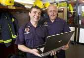 Retained officers receiving computer training, at Cinderford Community Fire and Rescue Station. - Paul Box - (IT),2000s,2007,adult,Adult Education,adults,bluetooth,Boot,boots,bunk,clothes,communicating,communication,communities,Community,COMPUTE,computer,computers,COMPUTING,edu education,email,EMOTION,EMOTIO