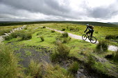 Cyclists, mountain biking in Dartmoor. - Paul Box - 25-07-2007
