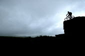 Cyclist, mountain biking in Dartmoor. - Paul Box - 25-07-2007