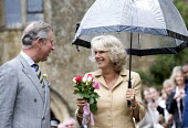 Camilla, The Duchess of Cornwall and Prince Charles celebrating her 60th birthday, Bromham, Wiltshire - Paul Box - 2000s,2007,ace culture,adult,adults,birthday,birthdays,Camilla Parker Bowles,CELEBRATE,celebrating,celebrities,celebrity,Charles,couple,couples,Duchess of Cornwall,EMOTION,EMOTIONAL,EMOTIONS,FEMALE,fl