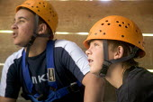 Young people taking part in an activity week at PGL Osmington Bay Centre in Weymouth. - Paul Box - 08-08-2007