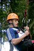 Young people taking part in an activity week at PGL Osmington Bay Centre in Weymouth. - Paul Box - 2000s,2007,Abseil,Abseiling,Activity,adolescence,adolescent,adolescents,adventure,adventurecourse,ascend,ascended,ascending,Bay,boy,boys,camp,camps,child,CHILDHOOD,children,Climbing,Connexions,cours