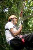 Young people taking part in an activity week at PGL Osmington Bay Centre in Weymouth. - Paul Box - 2000s,2007,Abseil,Abseiling,Activity,adolescence,adolescent,adolescents,adventure,adventurecourse,ascend,ascended,ascending,Bay,BME Black minority ethnic,boy,boys,camp,camps,child,CHILDHOOD,children