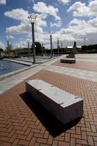 Llanlishen Skate Park, in Cardiff. A seat. - Paul Box - 23-05-2005