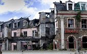 The burnt remains of Central Hotel, in central Cardiff. - Paul Box - 22-05-2005