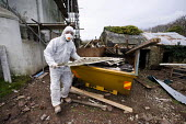 Asbestos being removed from a domestic refurbishment in Wales - Paul Box - 23-10-2008