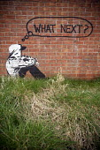 What next? graffiti. - Paul Box - 2000s,2009,ACE,ace art culture arts,activist,activists,adolescence,adolescent,adolescents,against,alone,anti,anti social behavior,anti social behaviour,anti socialanti social behavior,anticipating,ant